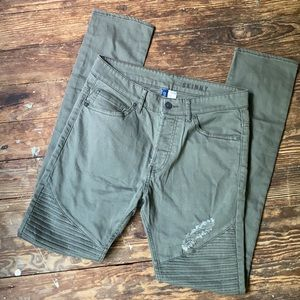 Divided Cotton Skinny Pants Distressed sz 30
